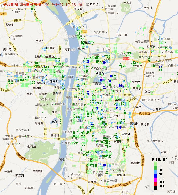 长沙市区高清地图