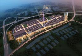 华美立家五金家居广场位于广安·未来城东南方