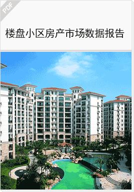 示例图片:楼盘小区房产市场数据报告