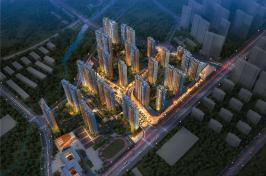 万科城新街坊位于力高国际南方