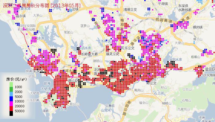 2013年深圳房价地图 –