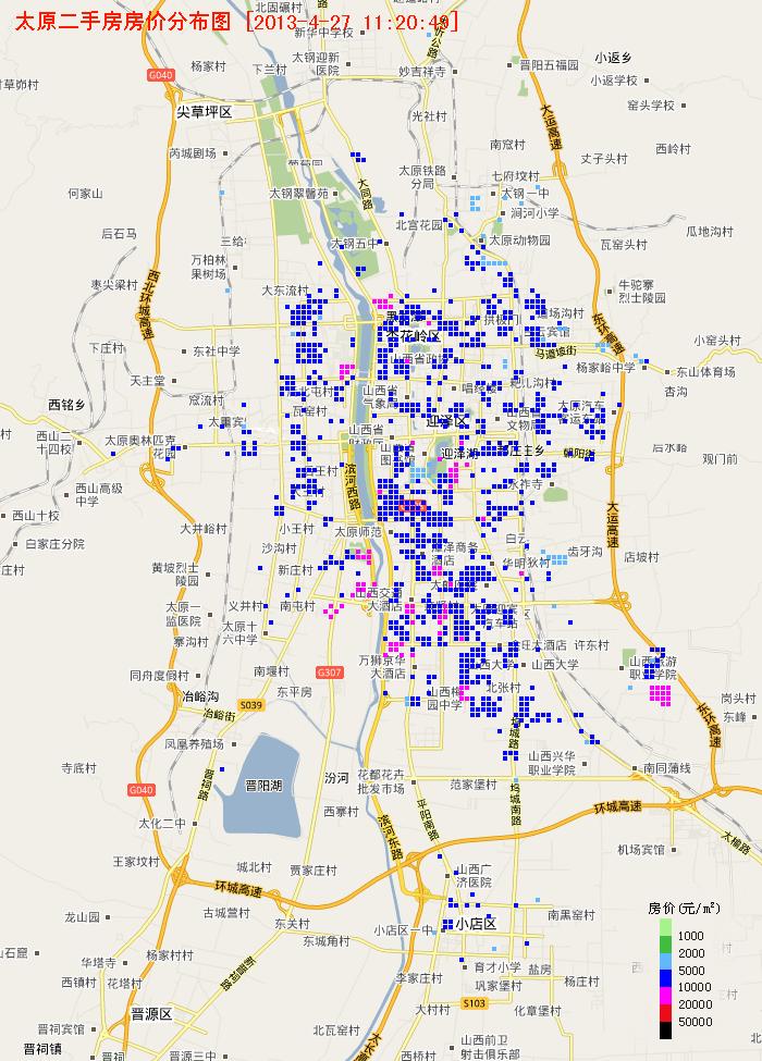 太原房价地图 - 城市房产
