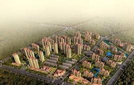 中南御锦城位于红豆·香江花城东南方